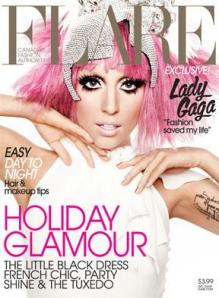 Gaga on the cover of Flare (Nov09 issue)
