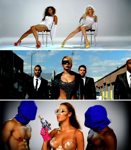 New photos from the upcoming Video Phone music Video