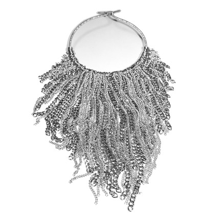 MaidenArt_Silver Fringes Necklace